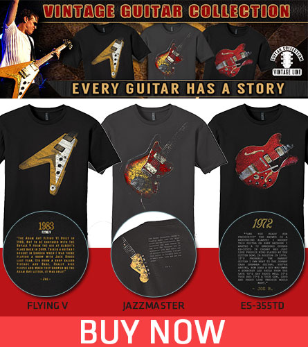 Joe Bonamassa Vintage Guitar Collection. Every guitar has a story. Flying V, Jazzmaster, ES-355TD. Buy Now!