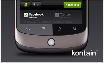 Kontain Android 2.0 is due out in March