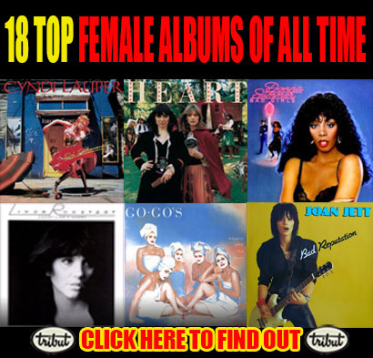 Tribut Apparel, 'When Music Really Matters'. Did your favorite album make the list of 18 top female albums of all time? Click here to find out.