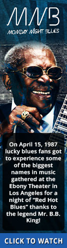 Tribut's Monday Night Blues. On April 15, 1987 lucky blues fans got to experience some of the biggest names in music gathered at the Ebony Theater in Los Angeles for a night of 'Red Hot Blues' thanks to the legend Mr. B.B. King! Click to watch.
